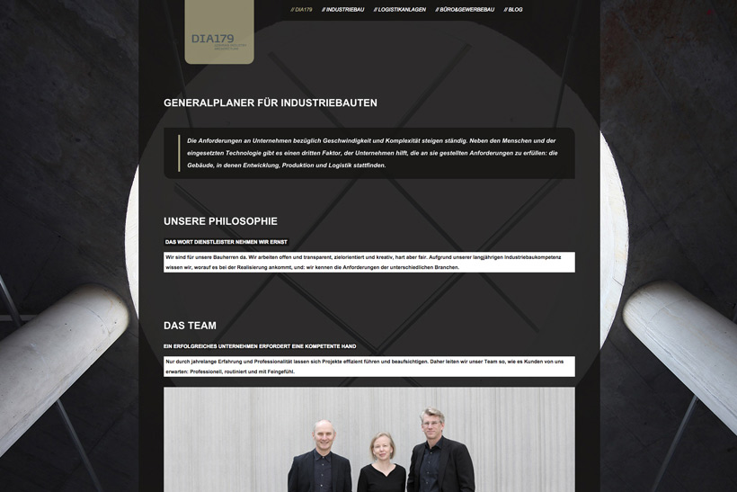 DIA179 Website Webdesign