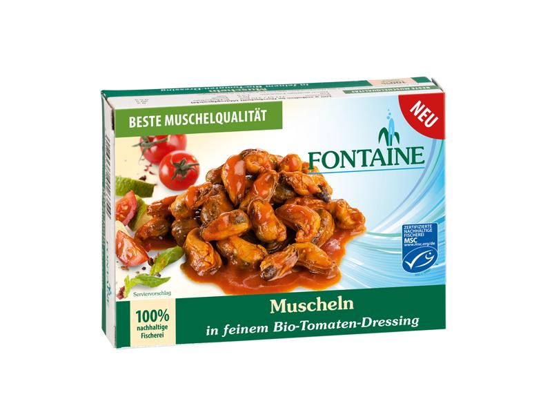 Packshot Muscheln in Tomaten fuer Fontaine