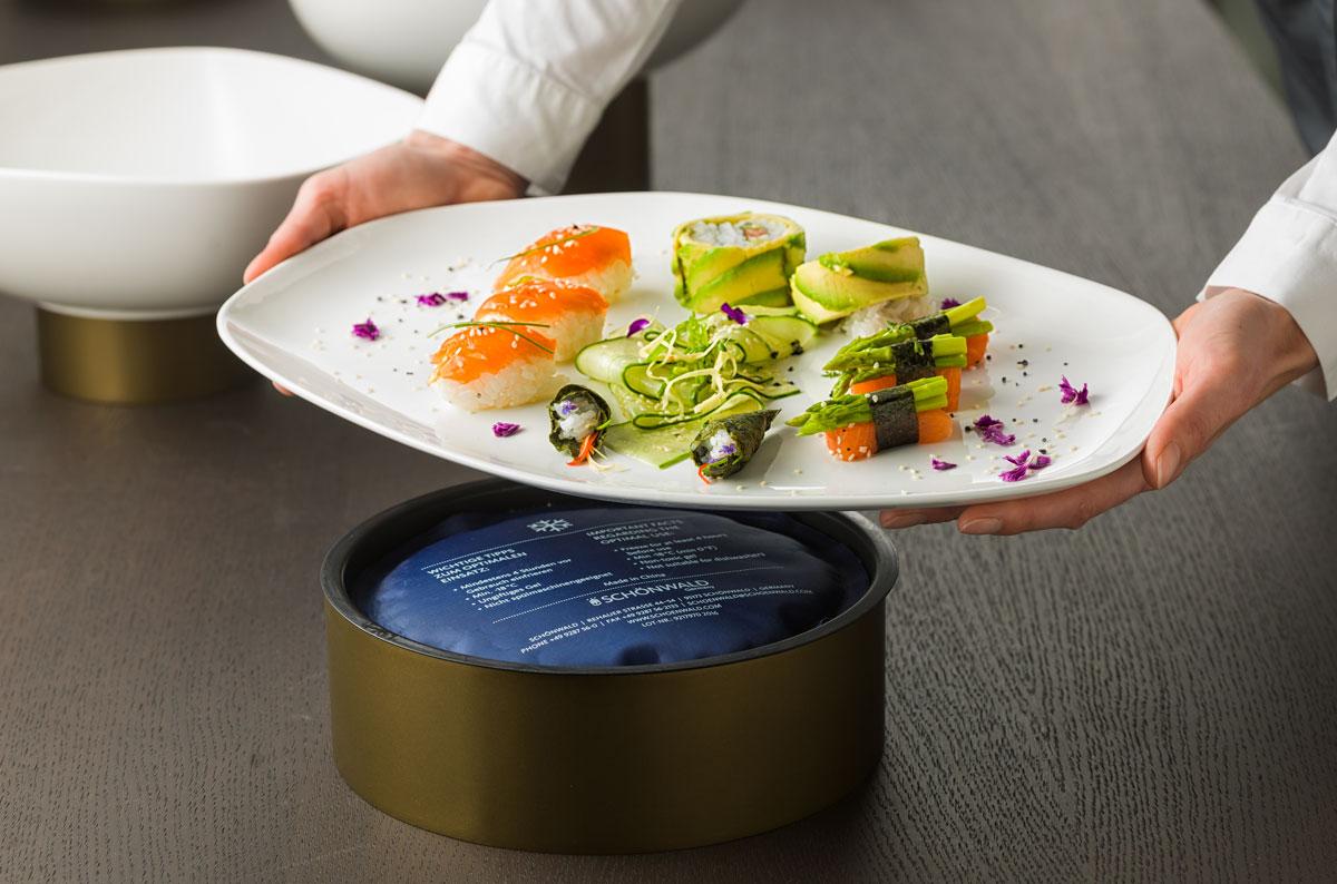 Vorgangsbild fuer Sushi auf Kuehlkissen