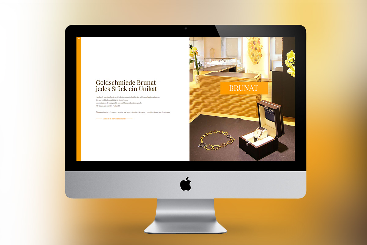 Goldschmiede Brunat - Website Mockup